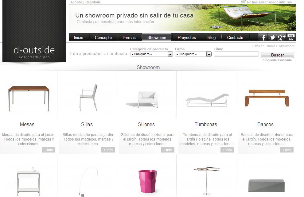 Desarrollo de páginas web: aplicación online de muebles de exterior