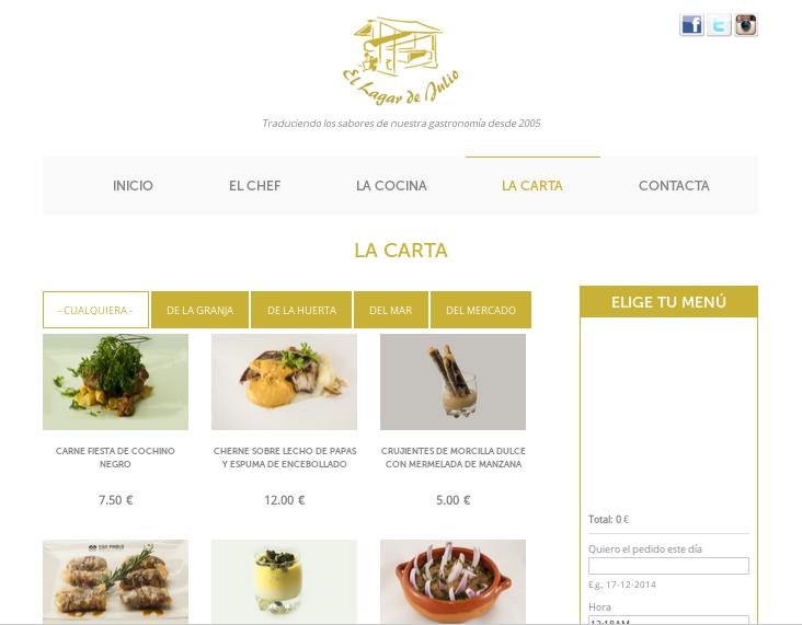 Desarrollo de páginas web: restaurante gourmet en Tenerife