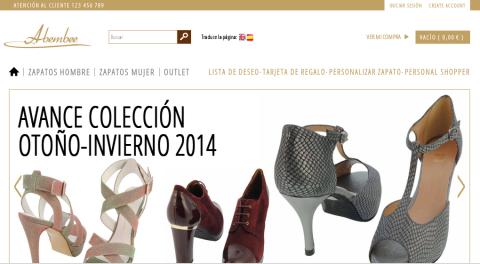 Desarrollo de páginas web: tienda online de zapatos de baile